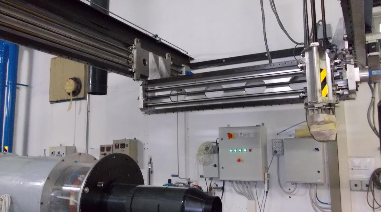 Sistema di movimentazione a 3 assi installato presso il Laboratorio di Aerodinamica di Enel Ricerca