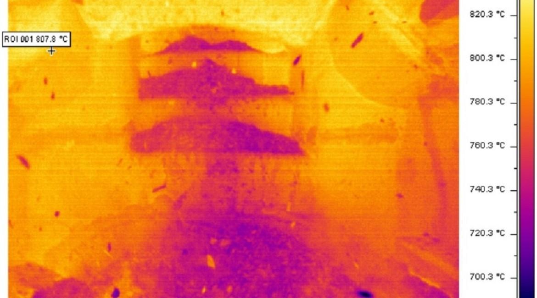 analisi termografica: camera di pirolisi