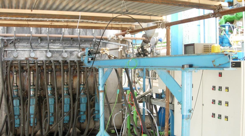 sonda di campionamento termocontrollata inserita in forno sperimentale
