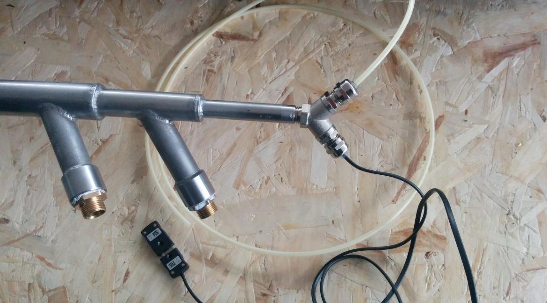 CODA SONDA: acqua raffreddamento (in-out), termocoppia, azoto di sbarramento