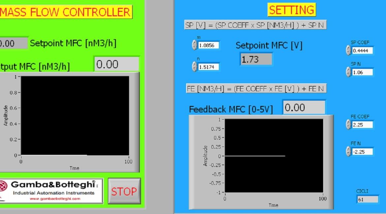interfaccia utente diluitore in azoto per FTIR